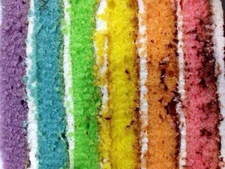 cake background: Rainbow layer cake background Stock Photo
