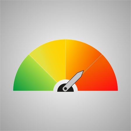 Colorful  icon with arrows on a grey background