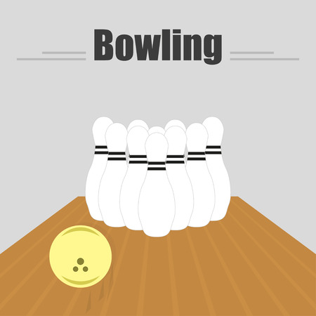 sliding: Bowling.  The track with a sliding ball and skittles