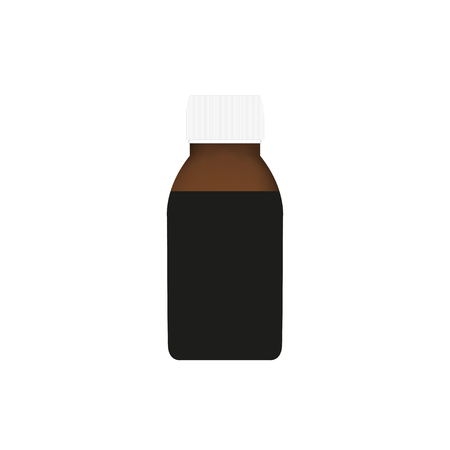 cough syrup: Cough  syrup in a realistic style on a white background
