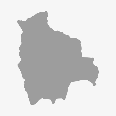 mapa de bolivia: Map  of Bolivia in gray on a white background