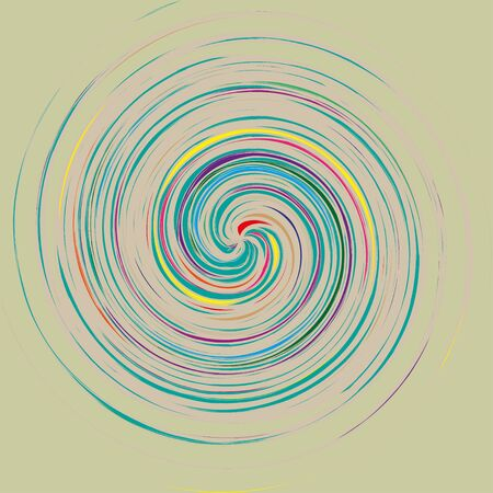 form a circle: Abstract  background with colored lines that form a circle