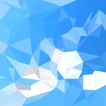 triangulation: Background  blue sky with white clouds in the style of triangulation Illustration
