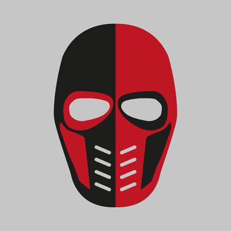 villain: Mask  of the comic book supervillain. Vector illustration