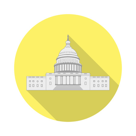 capitol hill: Icon  US Capitol in a flat design