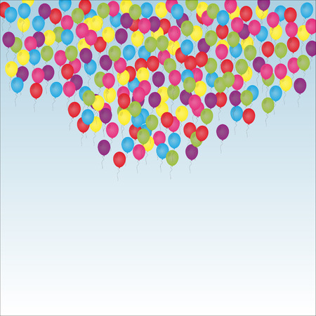 fly up: Multicolored  balloons fly up. Vector illustration eps10