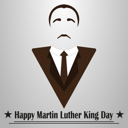Martin Luther King Tag. Frisur, Schnurrbart und Anzug