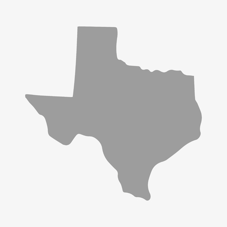 houston flag: State  of Texas map in gray on a white background Illustration