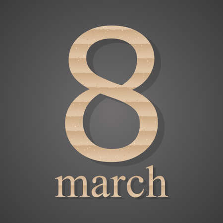 cardboard texture: 8  March International Womens Day. The cardboard texture