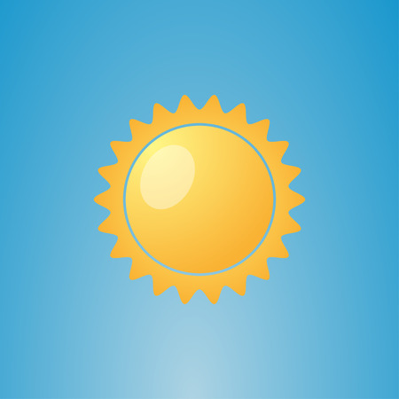 Illustration  of weather conditions. Sunny and clear