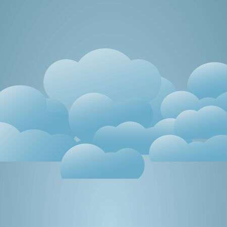 overcast: Illustration  of weather conditions. Overcast