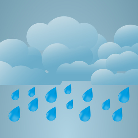 heavy rain: Illustration  of weather conditions. Heavy rain