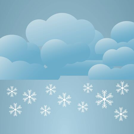 heavy snow: Illustration  of weather conditions. Heavy snow Illustration
