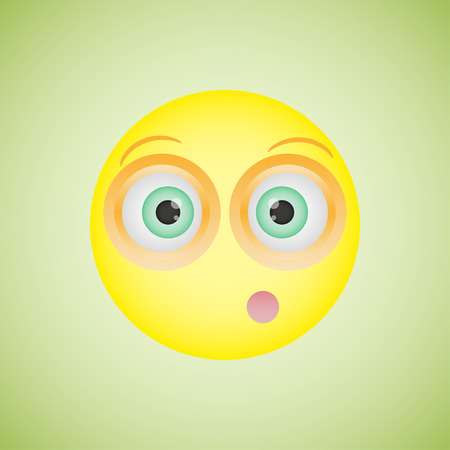 flushed: Smiley  with an embarrassed emotion. Vector illustration