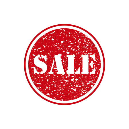 Sale. Red stamp with grunge. Vector illustration