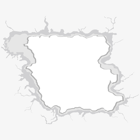 hole in wall: Hole in the wall. Template for a content Illustration