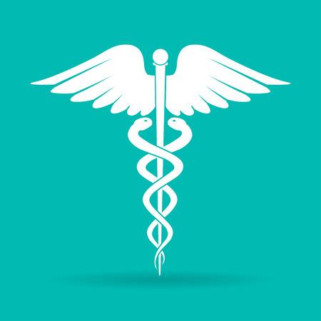 caduceus medical symbol: Caduceus  medical symbol. Emblem for drugstore or medicine, medical sign, symbol of pharmacy, pharmacy snake symbol