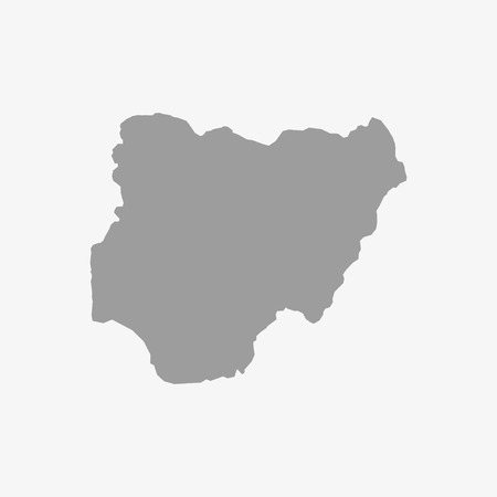 ethiopia abstract: Map  of Nigeria in gray on a white background Illustration