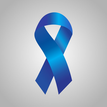pancreatic cancer: Cancer  ribbon in the blue gradient. Vector illustration Illustration