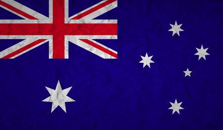 sidney: Australian  flag with the effect of crumpled paper and grunge