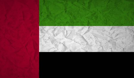 rumple: UAE  flag with the effect of crumpled paper and grunge