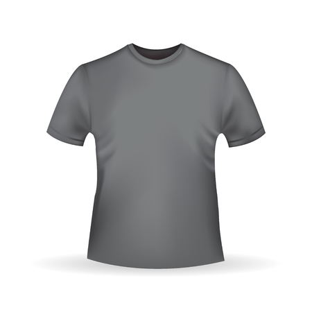 tshirt template: Black  T-shirt template isolated in realistic style on white background Illustration