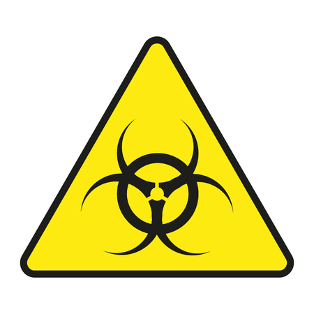 radiation sign: Vector  sign toxic. Sign toxic isolated. Symbol Warning toxic. Sign nuclear. Radiation sign Illustration