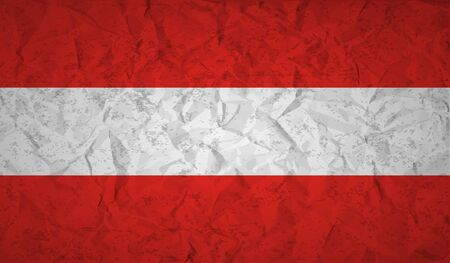 austrian: Austrian  flag with the effect of crumpled paper and grunge Illustration