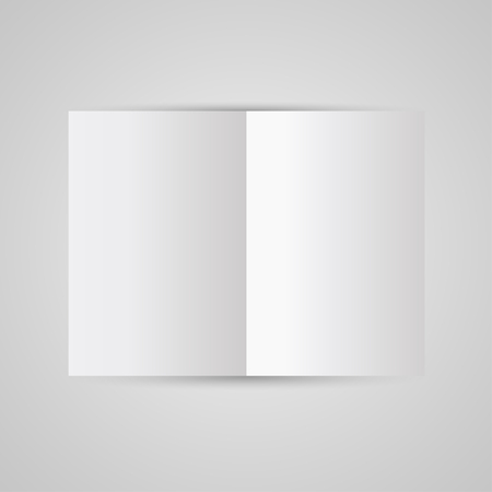 newspaper print: Magazine  blank page template for design layout. Vector illustration on gray background Illustration
