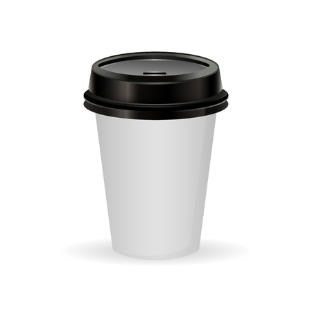 take out: paper  coffee cup as illustration of coffee take out