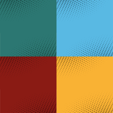 Set  of backgrounds from comic books. Vector illustration