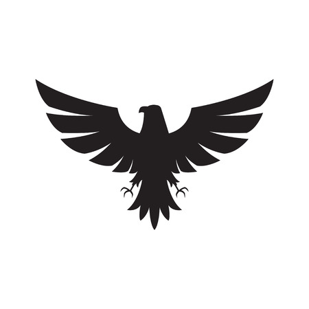 Illustration  of eagle Icon isolated on a white background Illustration