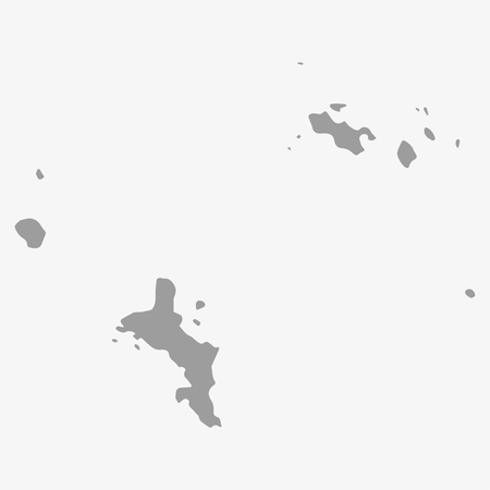 creole: Map  of Seychelles in gray on a white background Illustration