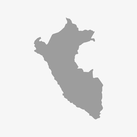 lima region: Peru  map in gray on a white background