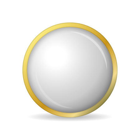 blank button: Concept  of golden buttons with shadow. Vector illustration Illustration