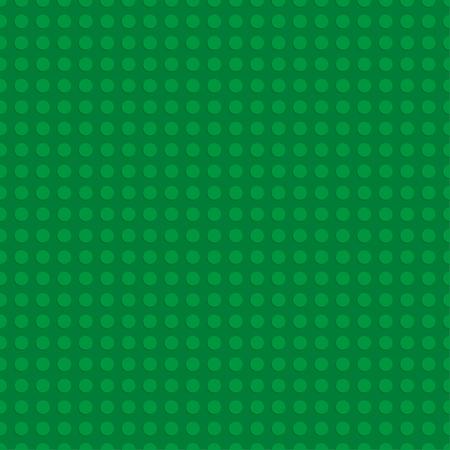 Zielona plastikowa płyta konstrukcyjna. Bez szwu tła wzoru. Ilustracji wektorowych