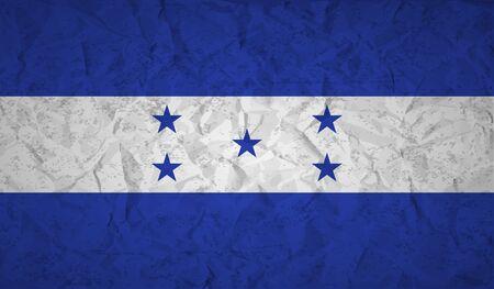 bandera honduras: bandera de Honduras con el efecto de papel arrugado y el grunge Vectores