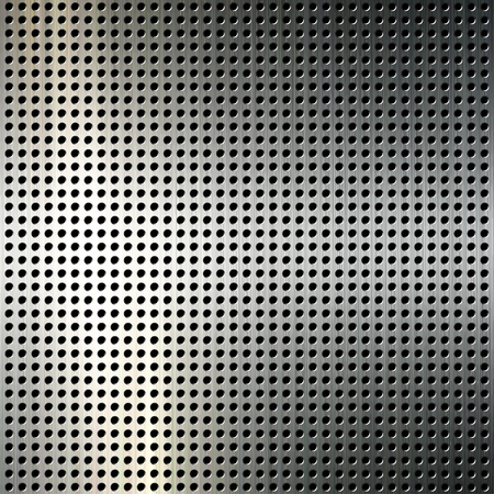 Metal  background with black circles. Vector illustration