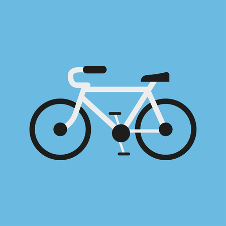 bicycling: Bicycling  in a flat design on a blue background. Vector illustration Illustration