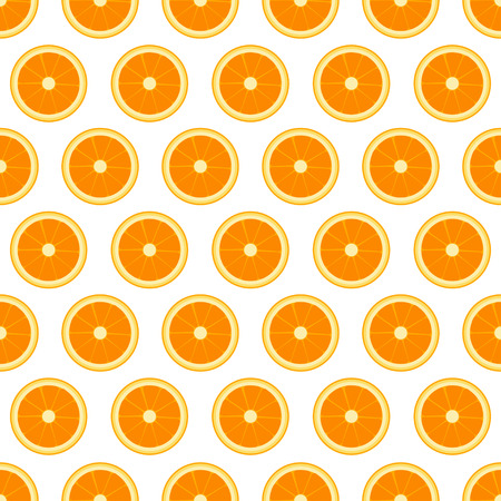 citric: Vector  seamless pattern with sliced oranges. Vector illustration. Design element for  for cafe or restaurant or web and print design Illustration