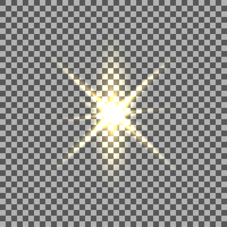 light burst: Yellow  glowing light burst with transparent on isolated background