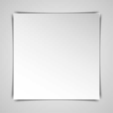 hardcover: Blank  square hardcover album template on white background. Vector illustration.