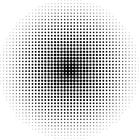 alight: Pop  art round elements. Halftone black dots on white background.