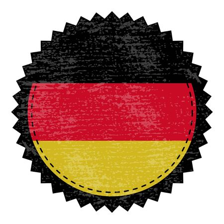 t document: Germany  grunge stamp with flag. Vector illustration
