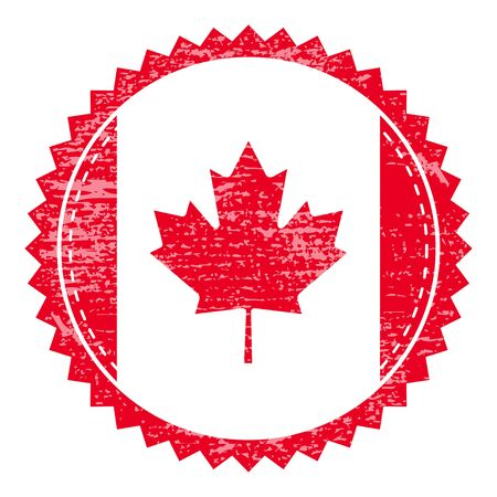 canada stamp: Grunge  rubber stamp with Canada flag. Vintage travel stamp