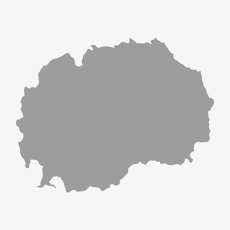 lake district: Macedonia  map in gray on a white background