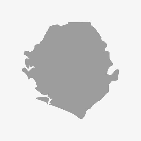 leone: Sierra  Leone map in gray on a white background Illustration
