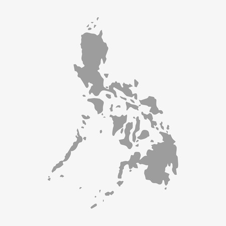 philippines map: Philippines  map in gray on a white background