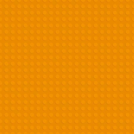 オレンジ色のプラスチック構造板。シームレスなパターン背景。ベクトル図