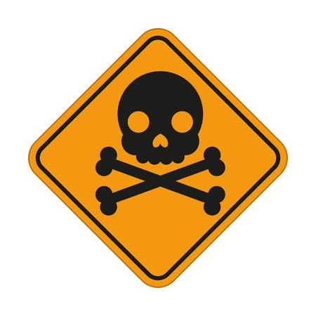 vector skull danger sign: Skull  and crossbones symbol, danger sign. Vector illustration for your design and presentation